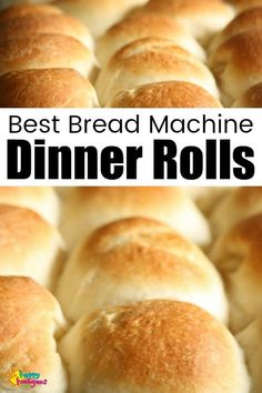 This Bread Machine Dinner Roll Recipe makes the best dinner rolls ever. They're so light and fluffy, you'll never buy store-bought again. Soft, fluffy and golden brown, these delicious bread machine dinner rolls are perfect for all occasions. Dinner Rolls Bread Machine, Easy Bread Machine Recipes, Best Bread Machine, Bread Maker Recipes, Bread Dough Recipe, Easy Bread Roll Recipe, Fluffy Bread Recipe, Bread Machine Mixes, Bread Machines