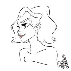 Such a #quick #doodle after a very long day at work. #sketch #drawing #girlsinanimation #girl