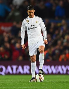 Cristiano Ronaldo of Real Madrid CF looks dejected as Luis Suarez of Barcelona scores their second goal during the La Liga match between FC Barcelona and Real Madrid CF at Camp Nou on March 22, 2015 in Barcelona, Catalonia.