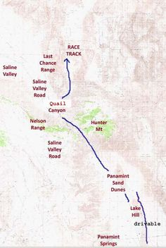 Death Valley National Park Map MAPS Out of State Pinterest