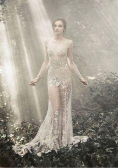 """Fairy of Enchanted Woodland."" Fashion photograph. Paolo Sebastian 2015 A / W Couture"