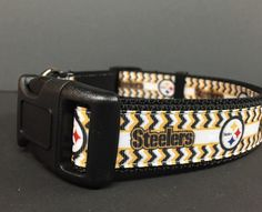 Pittsburgh Steelers  Dog Collar Chevron Pattern