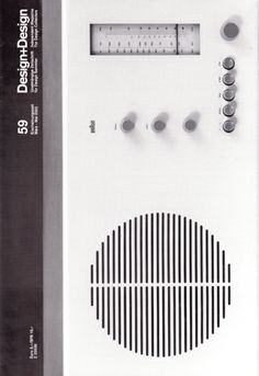 Design + Design Magazine 59 (March - May 2002) | An issue of the rare independent Braun journal by and for design obsessives.  This on has articles on Braun radios from 1955 to 1961 (including the RT 20 shown on the cover), the HUV 1 UV-IR lamp by Dieter Rams, Reinhold Weiss and Dietrich Lubs and Rolf Heide's stacking day bed and sofa banks among others.