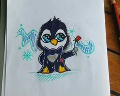 My Tattoo Design of a Penguin (for a friend whom has asked me to create for her)
