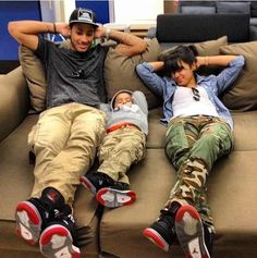 So cute! Whole family can wear the same sneakers. (Future family goals)