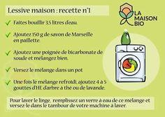 Lessive facile #diy #lessive #savondemarseille #bicarbonate