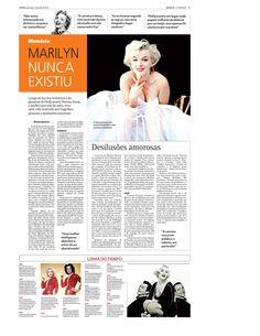 Especial sobre 50 anos da morte de Marilyn Monroe publicada no jornal O Popular em abril de 2012. Parte 2 de 2
