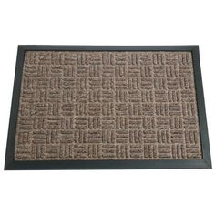"Rubber-Cal Wellington Entrance Carpet Mat - 18 x 30 inches - Brown Entrance Rug by Rubber-Cal. $32.00. Non-slip, water resistant absorbent mat keeps indoor floors clean, increases safety, and reduces cleaning costs. Small 18"" x 30"" rubber-backed polypropylene carpet mat. Raised, beveled edges help contain moisture on the surface and within the mat, keeping it away from subfloors. Durable rubber backing with textured finish for additional traction. Ideal as a small indoor doormat ..."