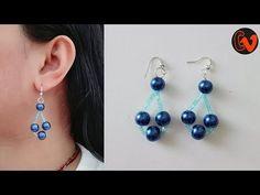 Beading earrings tutorial for beginners. 10 minutes DIY Earrings - YouTube