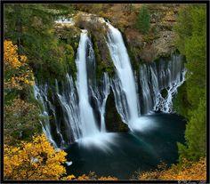 Burney Falls;  McArthur-Burney Falls Memorial State park, northeast of Redding, CA;   photo by Tony Immoos, via Flickr