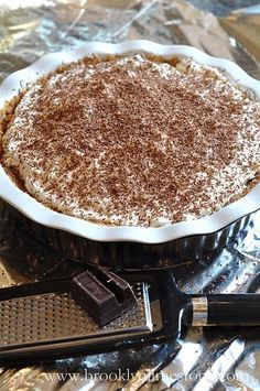 "Banoffee ""Danger"" Recipe: Banoffee ""Danger"" Pie  Do not adjust your sets - you haven't tuned into the wrong blog. Its still culinarily challenged me but this pie was so amazingly delish I had to share it. We had a chance encounter with its gooey yumminess in Africa. Luckily the camp manager was nice enough to share the recipe. I've made a few slight adjustments to account for American markets."