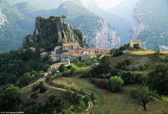 Mountain houses in Rougon, France