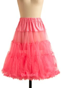 perfect pink petticoat for under a-line dresses and skirts