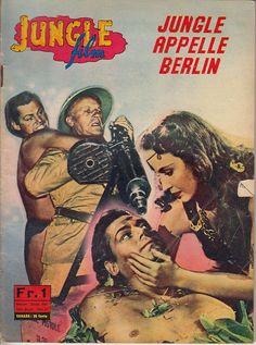 JUNGLE FILM  N° 12 JUNGLE APPELLE BERLIN AVEC J. WEISSMULLER PHOTO ROMAN DE 1964