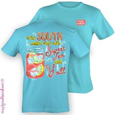 Girlie Simply Southern Sweet Tea TShirt by SimplySouthernTees, $19.99
