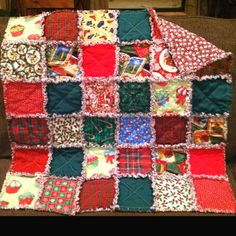 Christmas Baby Rag Quilt