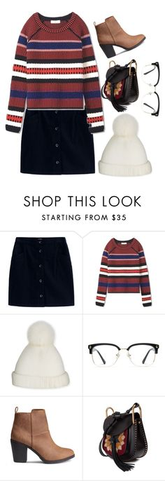 """""""Glasses"""" by cnle ❤ liked on Polyvore featuring A.P.C., Tory Burch, Yestadt Millinery, GlassesUSA and Chloé"""