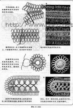 Gallery.ru / Фото #27 - Вязание вилкой. Hairpin lace pattern chart