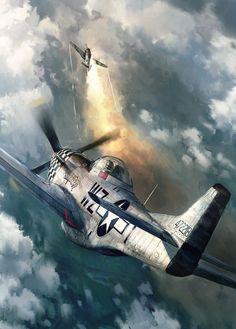 P-51 Mustang by John Wallin Liberto aviation art                                                                                                                                                     More