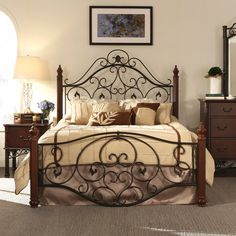 TRIBECCA HOME Madera Graceful Scroll Bronze Iron Metal Full-sized Bed - Overstock™ Shopping - Great Deals on Tribecca Home Beds
