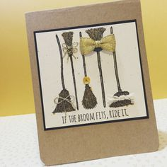 Stampin' Up! If the Broom Fits!