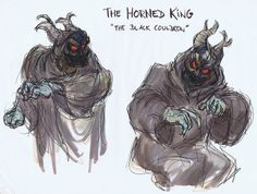 "Concept drawings of The Black Couldron (""Taran & De Toverketel"") by Andreas Deja. Did you know that  Tim Burton was the original 'The Black Couldron' team?     There's more where that came from, check it out for yourself http://andreasdeja.blogspot.com/2011/11/early-black-cauldron.html"