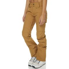 Dakine Westside Snow Pant Brown Cotton ($170) ❤ liked on Polyvore featuring activewear, activewear pants, brown, pants, snow, women, dakine, snow pants and cotton activewear