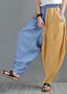 Yoga Harem Pants, Yoga Pants Outfit, Baggy Pants, Balloon Pants, Drop Crotch, Linen Pants, Pants For Women, Clothes Women, Fashion Clothes