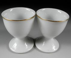 Etsy の Pair of Porcelain Egg Cups from the 1960s by Koedo