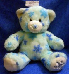 Build A Bear WINTER HUGS Blue with blue snowflakes 2009 BABW SE11 #BuildaBear…