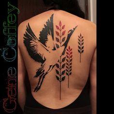 bird back tattoo Back Tattoos, Great Tattoos, Trendy Tattoos, Beautiful Tattoos, Body Art Tattoos, Girl Tattoos, Tattoos For Women, Cover Tattoos, Foot Tattoos