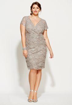 Sequined Lace Tier Dress   Avenue..I love this dress. But I chose an Igigi dress instead. :)