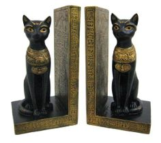 Pair Of Egyptian Cat Goddess Bastet Bookends Book Ends by Private Label, http://www.amazon.com/dp/B003I83DY6/ref=cm_sw_r_pi_dp_Ygmurb0WGBNPW