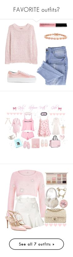 """""""FAVORITE outfits💕"""" by not-a-big-fan-of-reality ❤ liked on Polyvore featuring H&M, Essie, Bling Jewelry, Chiara Ferragni, Wildfox, Cabbages & Roses, Lipsy, Soma, Victoria's Secret and Catherine & Jean"""