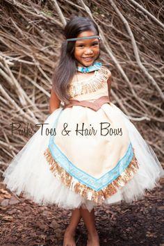 Pocahontas Dress- Pocahontas costume- Pocahontas tutu dress by GlitterMeBaby on Etsy https://www.etsy.com/listing/202183958/pocahontas-dress-pocahontas-costume