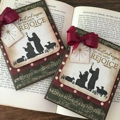 Handmade Christmas cards by Autumn Clark featuring the Psalm 97:1 verse from the Scripture Medley 4 stamp set by Verve. #vervestamps #faithstamping