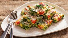 Frittata med tomater og spinat - Sunn - Oppskrifter - MatPrat