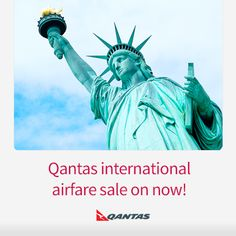 Qantas airfare sale to New York and LA is on now. Pick up a terrific fare before Jan 31 http://www.corporatetraveller.com.au/qantas-sale-los-angeles-and-new-york-now
