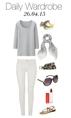 Daily Wardrobe by charlotte-mcfarlane on Polyvore featuring Uniqlo, J Brand, Cassis côte d'azur, Alexander McQueen, ALDO, French Connection and Maybelline