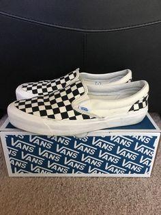 556a7992b4d Vans OG Classic Slip-On Black White Checkerboard Size 9  VANS