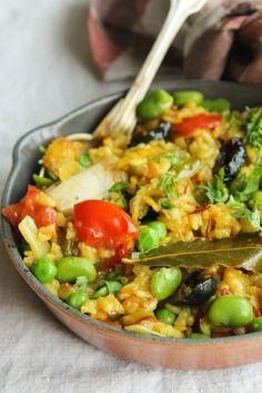 Paëlla de légumes {vegan - sans gluten} - aime & mange: