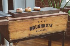 Photos of Doughboys Doughnuts - Melbourne Victoria. The day's display. Melbourne Victoria, Victoria Australia, Hope Chest, Signage, Storage Chest, Display, Doughnuts, Toys, Ideas