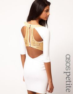 Asos Petite Exclusive Bodycon Dress With Embellished Back Size UK
