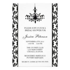 d9c49e7fc107 Elegant Damask Bridal Shower Invitation Couples Shower Invitations