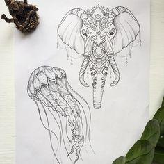 #sketch #tattoist #eliphant слон все ещё свободен, есть возможность для записи в Москве✉️