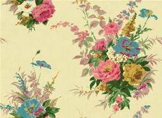 Cath Kidston Pulbrook rose digital wallpaper