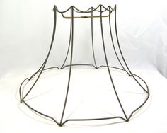 Lamp shade wire frame for table floor lamp fancy scalloped bell lamp shade wire frame large for table floor hanging custom hand made diy greentooth Gallery