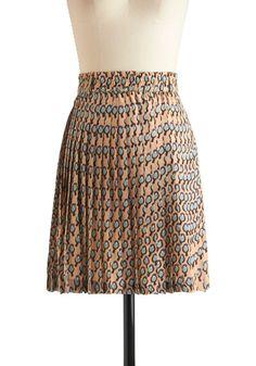 Ah, more bird prints, yes! (One Cool Chickadee Skirt, #ModCloth)