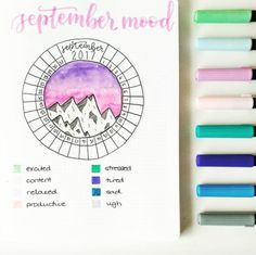 BuJo Inspiration || Mood Tracker