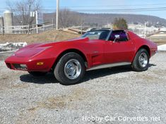 1973 Red Corvette 4spd, black interior, power steering, power brakes, dual exhaust, new right front and left rear calipers, new rear rubber brake hoses, e brake cables, oil and filter, transmission fluid, rear end grease, upper and lower ball joints, upper and lower control arm bushings, idler arm, tie rod ends, and much more. - See more at: http://www.hobbycarcorvettes.net/corvette/1973-red-corvette-stingray-4spd/